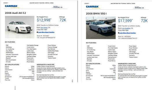 Audi and S550 72000 mi