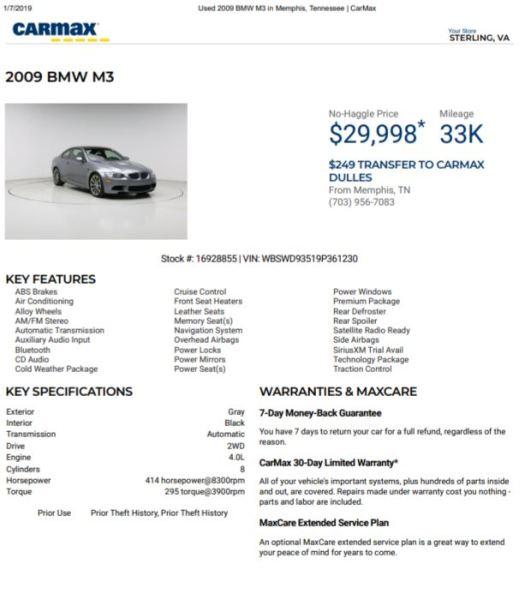 Carmax Extended Warranty >> Bmw The Carmax Unicorn Blog
