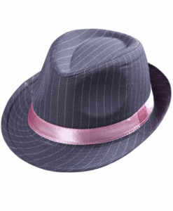 GREY PINSTRIPED FEDORA