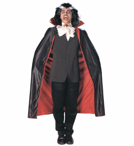 DELUXE LINED CAPE WITH COLLAR