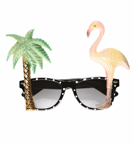 FLAMINGO TROPICAL GLASSES