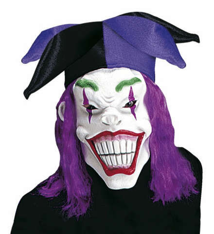 JOKER MASK WITH HAT & WIG