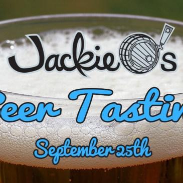 Jackie O's Beer Tasting | September 25th 2019