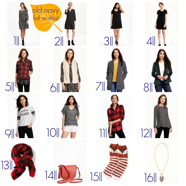 old navy fall wishlist the carolove