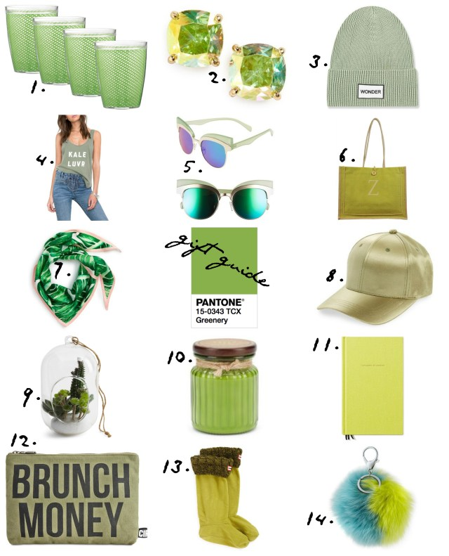 the carolove pantone greenery gifts under 50