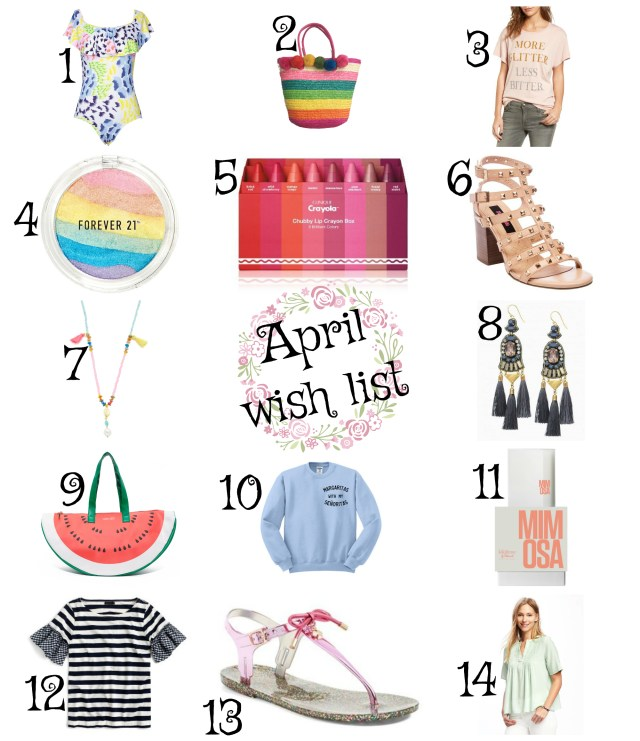 the carolove april wish list