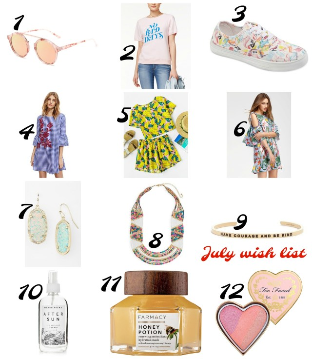 the carolove july wish list