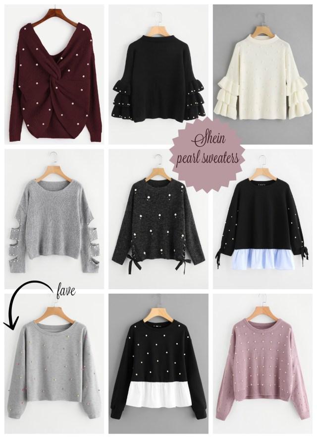 the carolove pearl sweaters