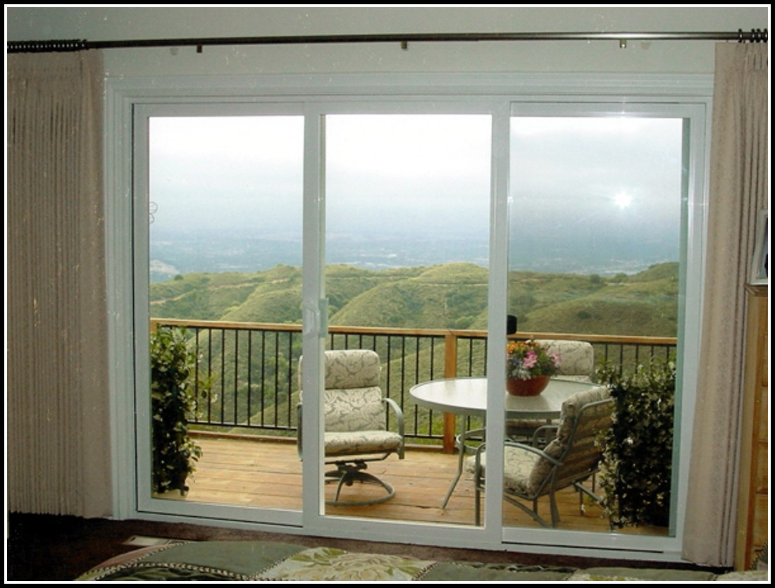 3 Panel Sliding Glass Door Curtains