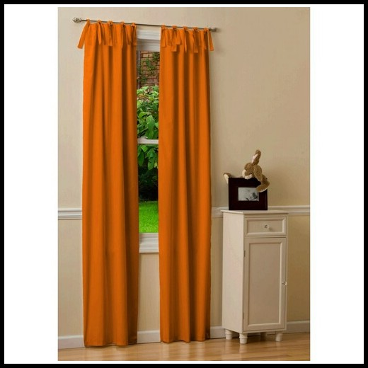96 Inch Orange Curtains