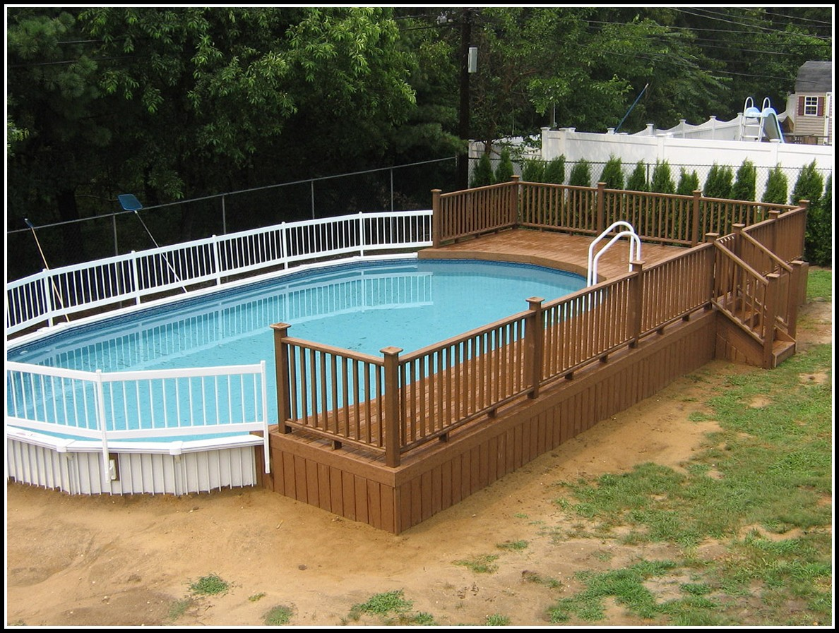 Above Ground Pool Decks Plans