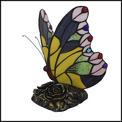 Amazon Stained Glass Butterfly Lamp