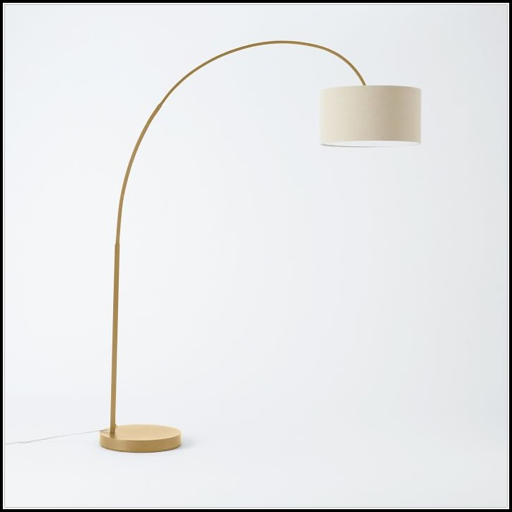 Antique Brass Arc Floor Lamp