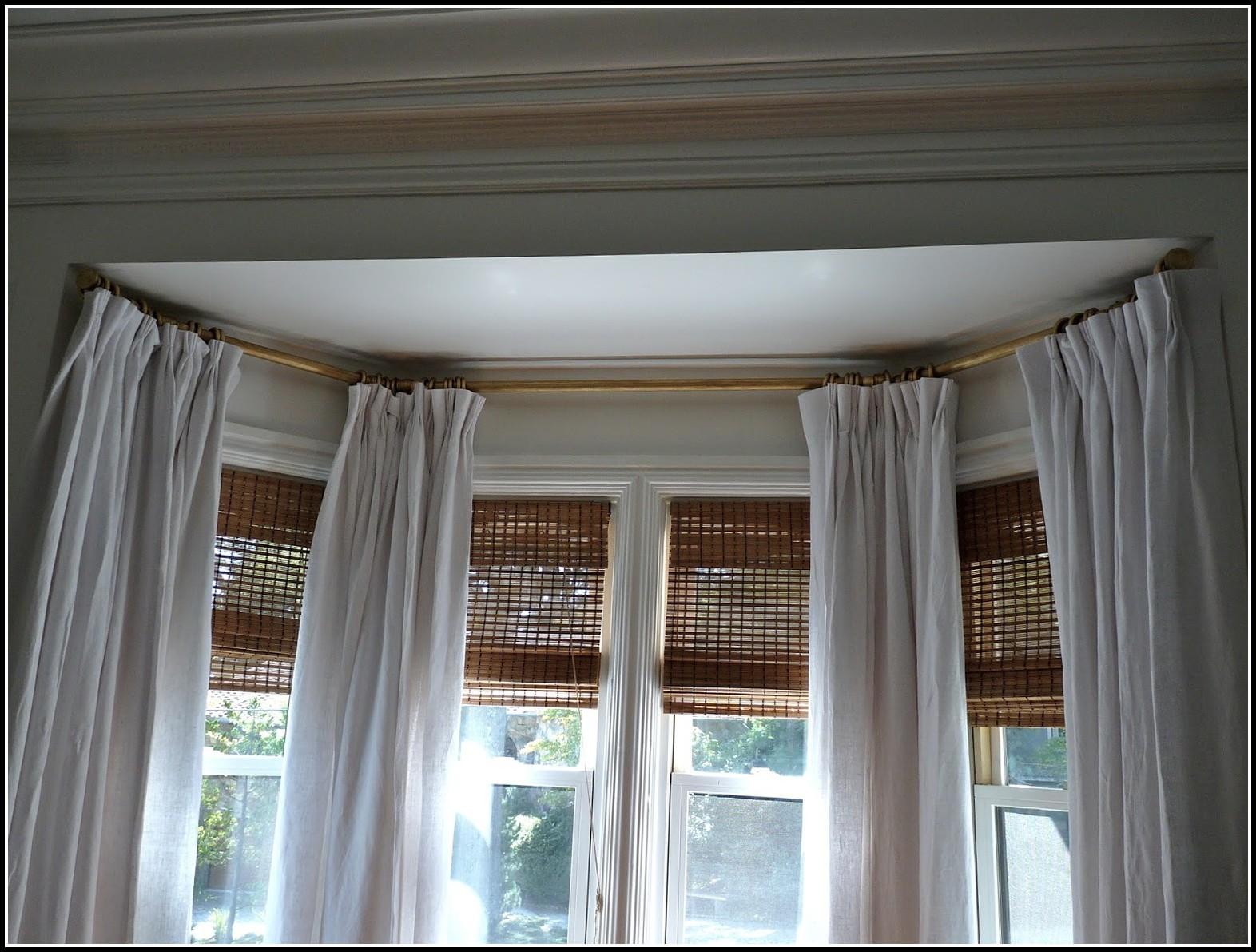 Bay Window Curtain Rod Ceiling Mount