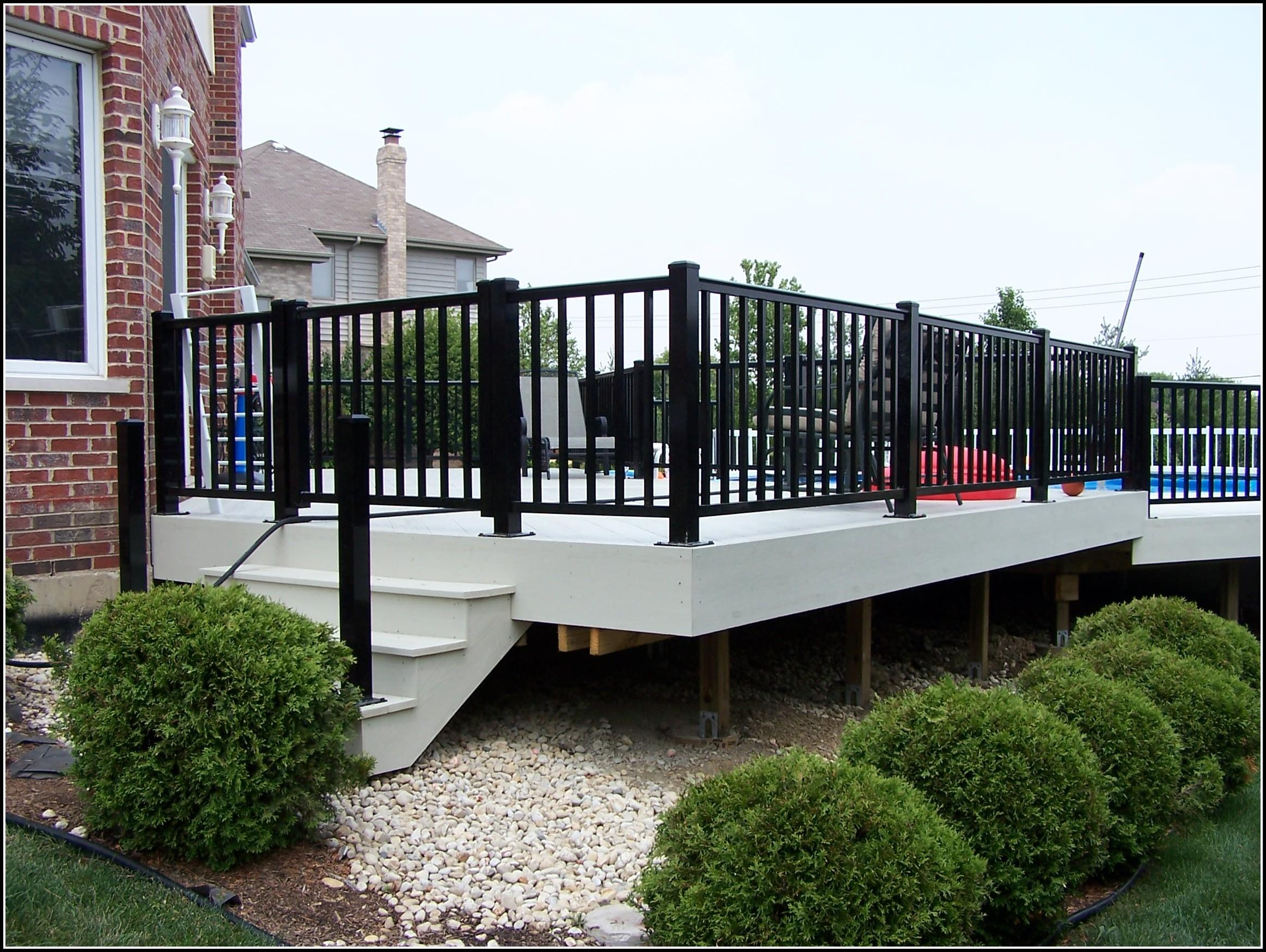 Black Aluminum Deck Railing