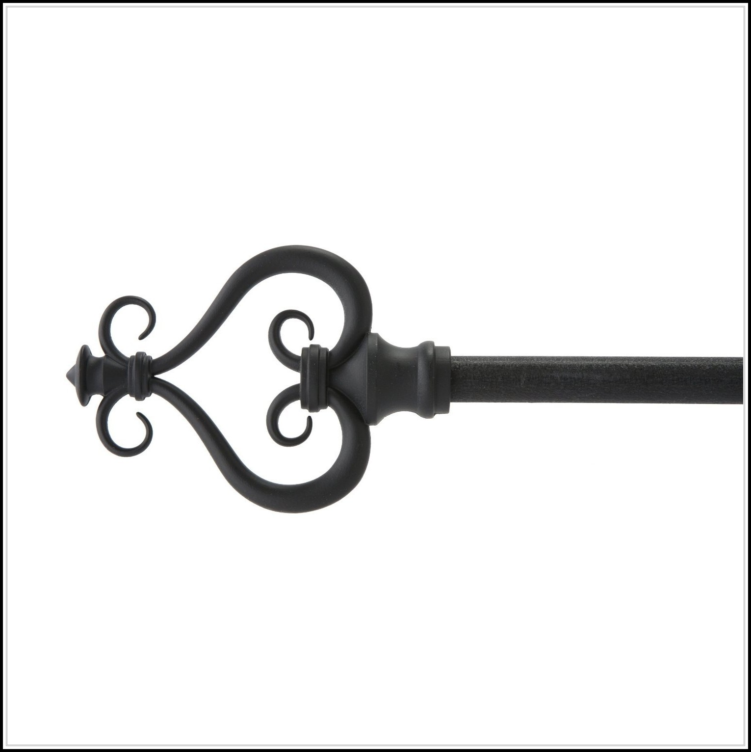 Black Wrought Iron Curtain Rods