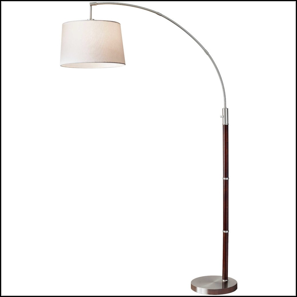 Bronze Finish Arc Floor Lamp