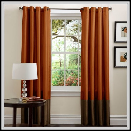 Brown And Burnt Orange Curtains