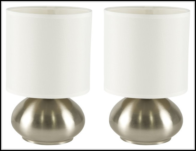 Brushed Nickel Bedroom Table Lamps