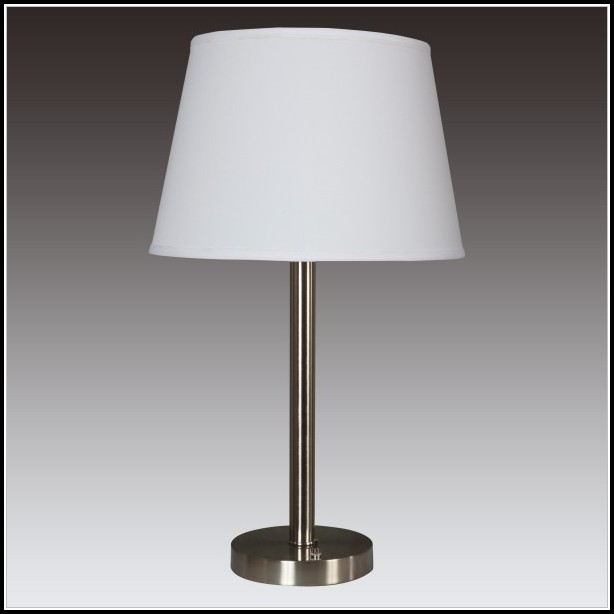 Brushed Nickel Table Lamp Base