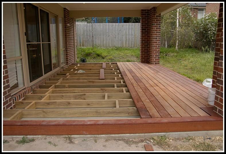 Building A Deck Over Concrete Patio