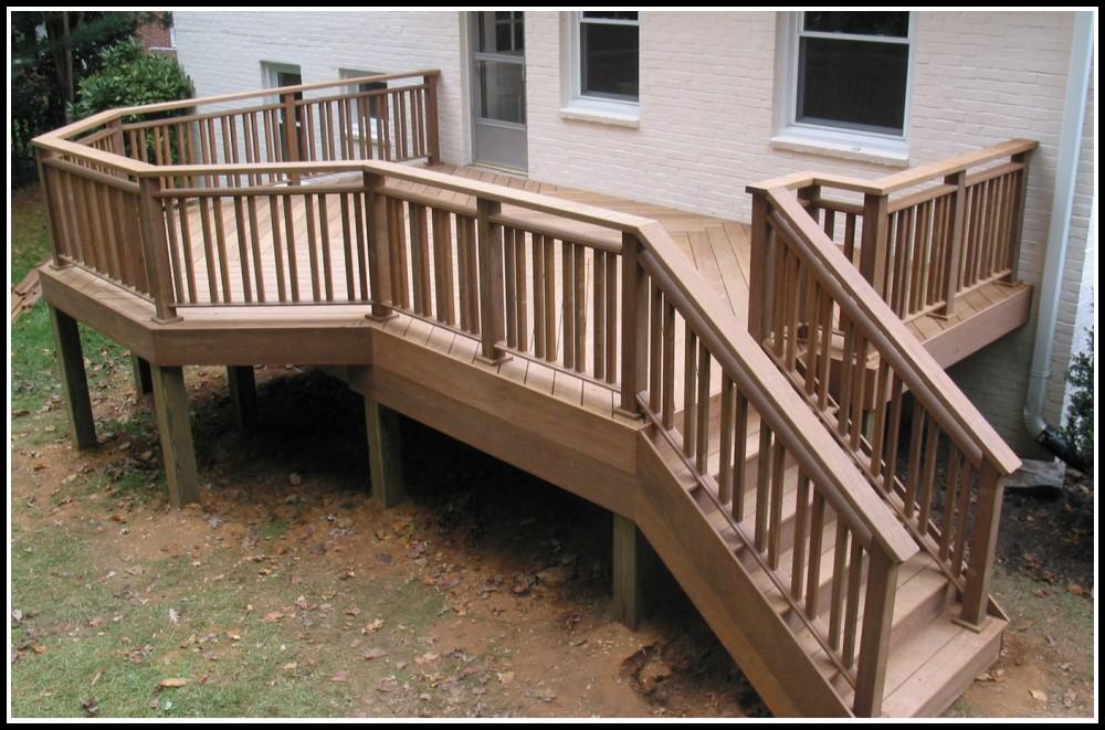 Building A Deck Stair Railing
