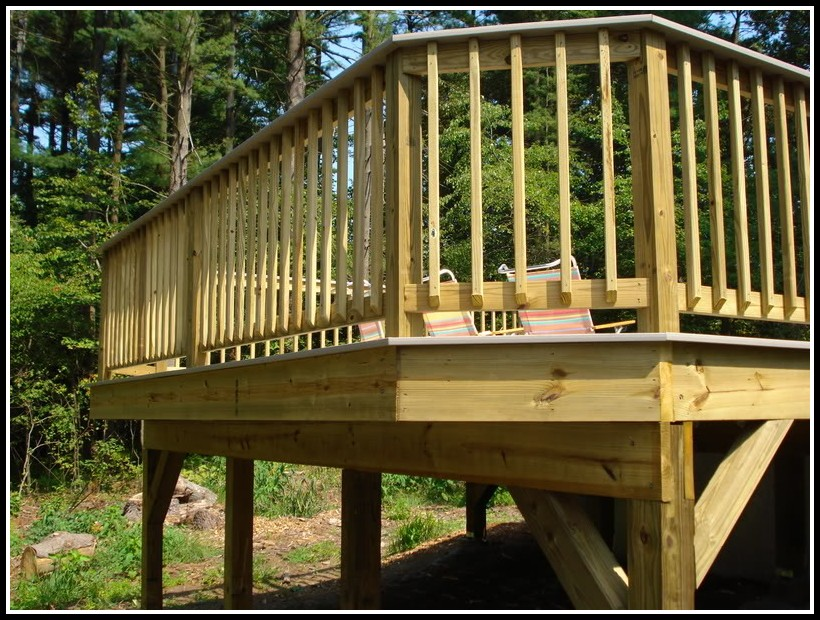 Building Deck Railing Posts
