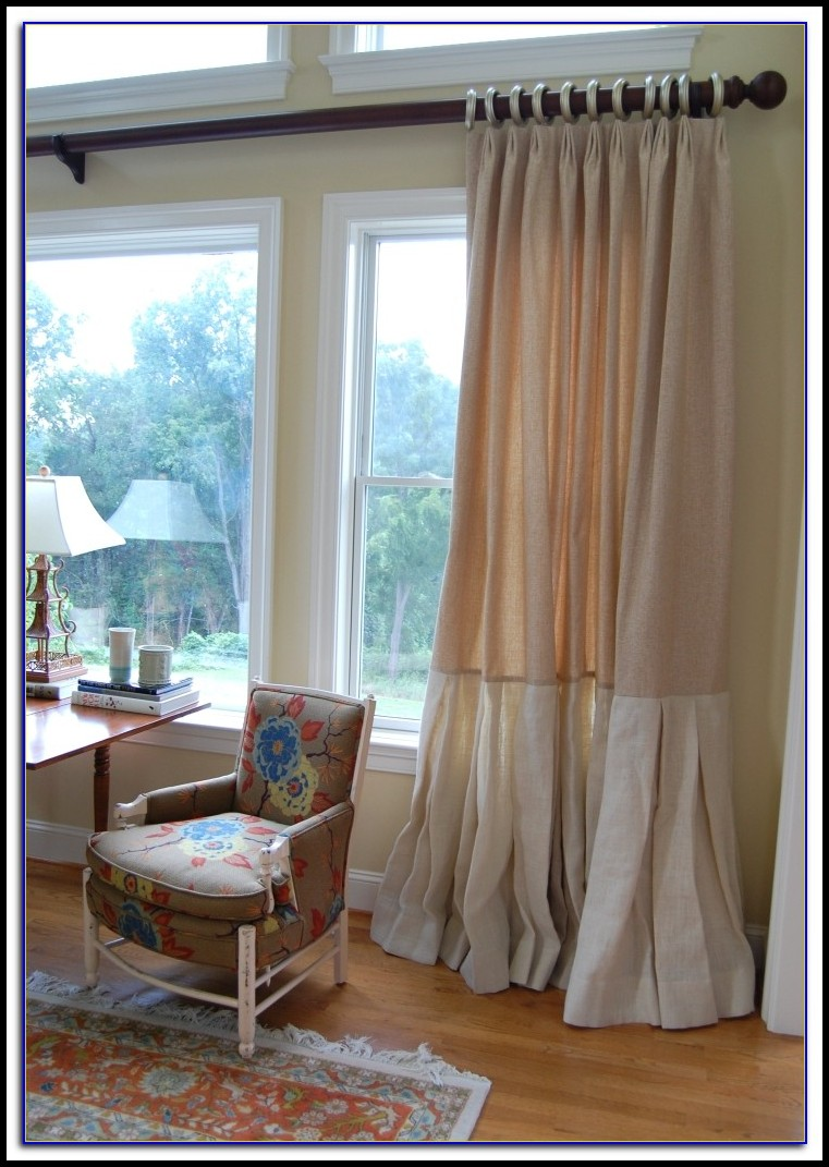Burlap Curtain Panels 96