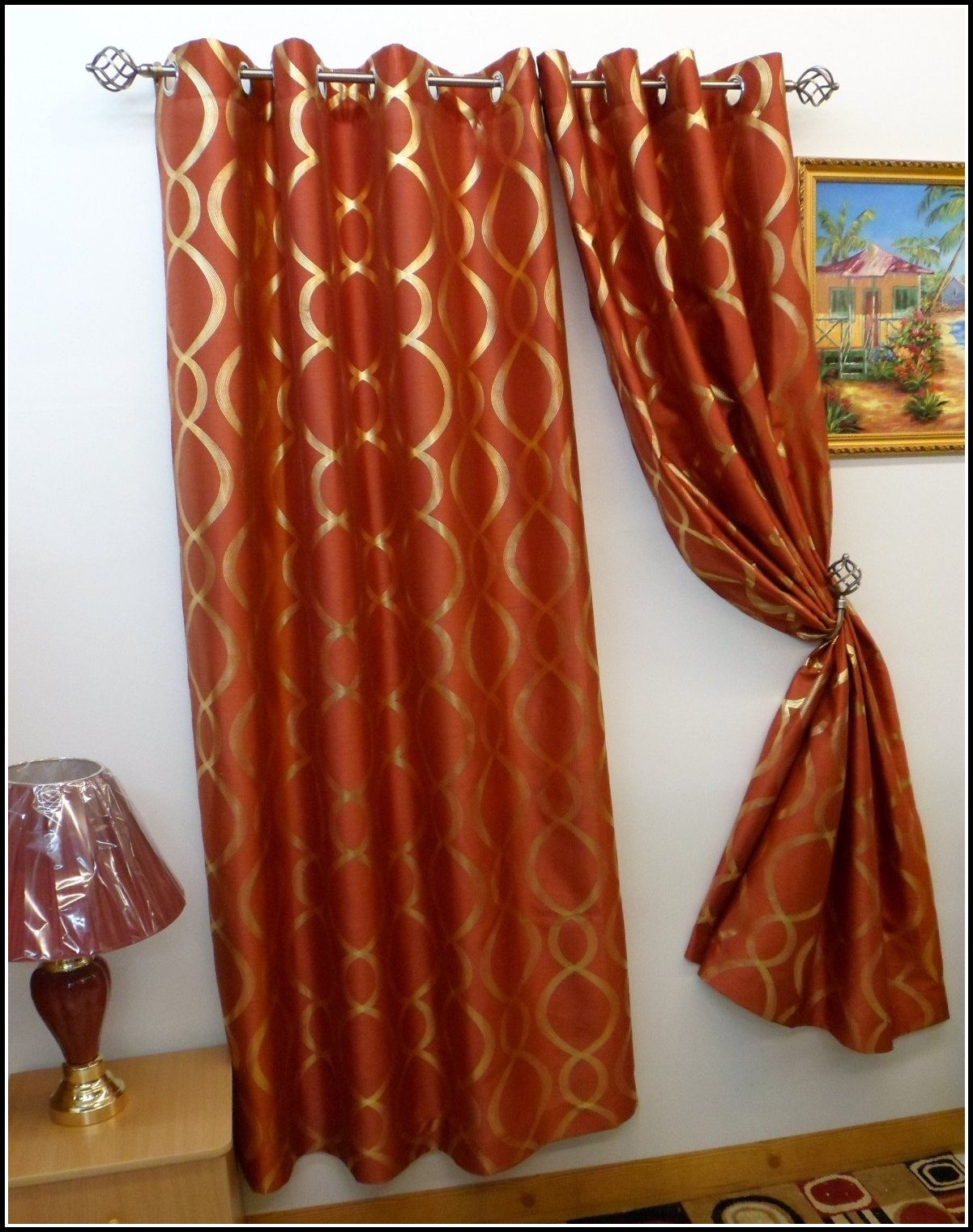 Burnt Orange Curtains Panels