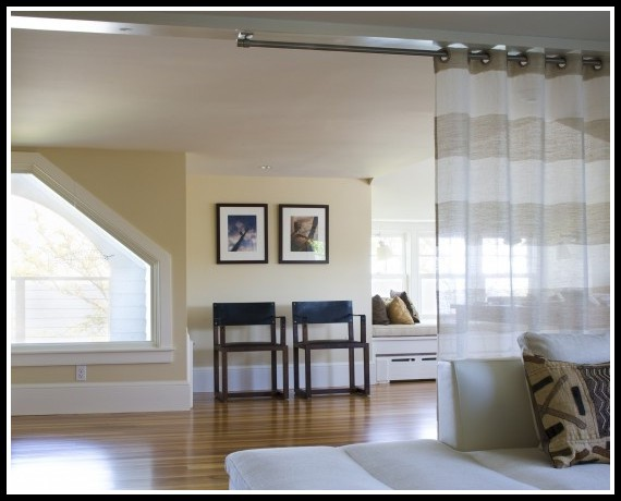 Ceiling Curtain Rod Room Divider