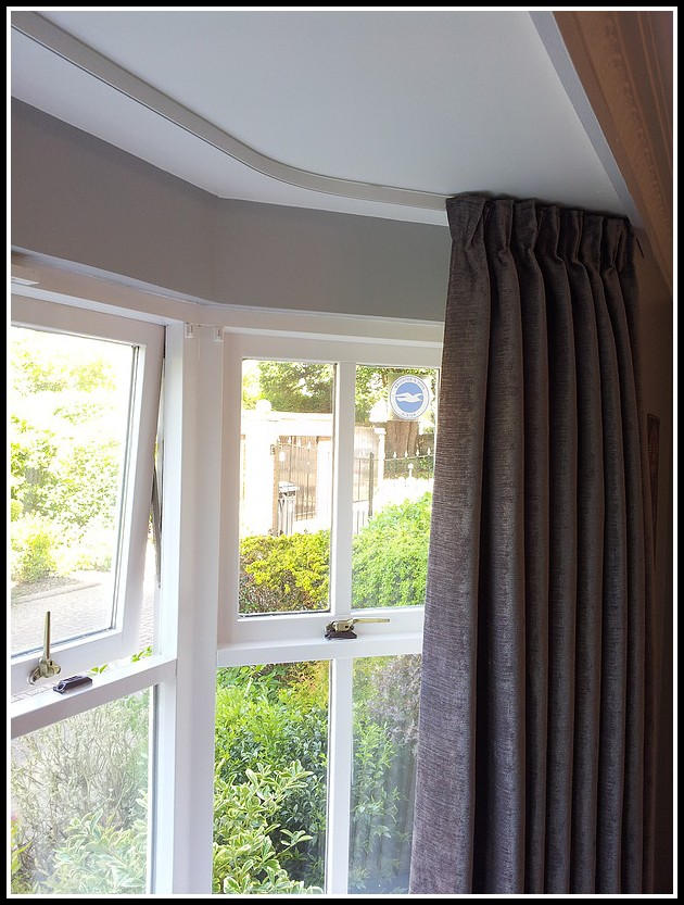 Ceiling Curtain Track Bay Window