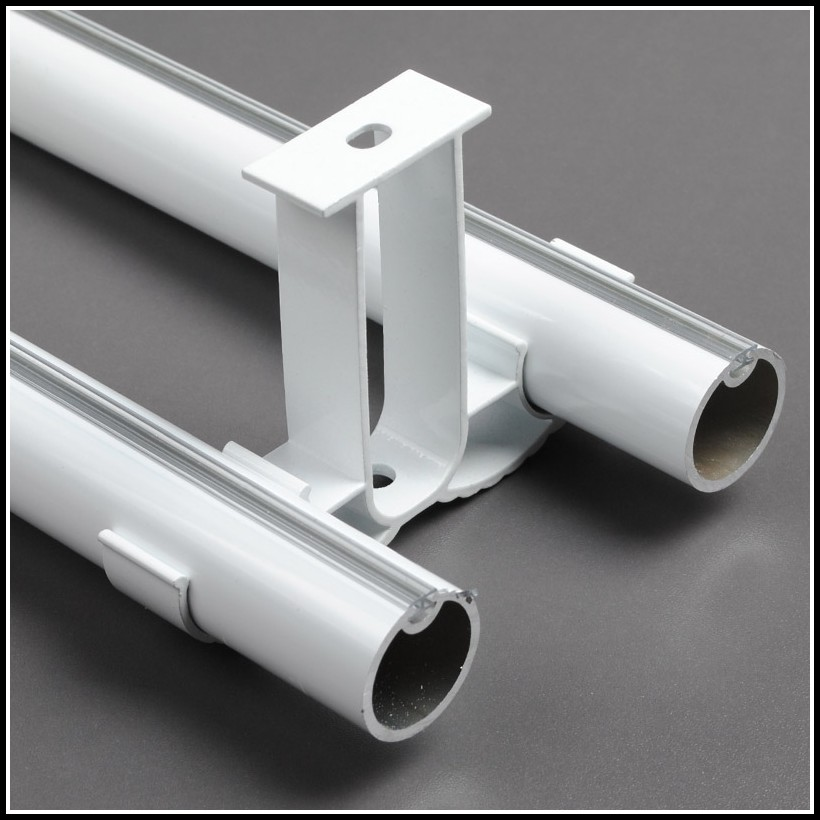 Ceiling Mount Double Curtain Rods