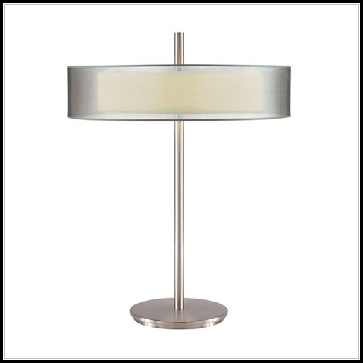 Contemporary Brushed Nickel Table Lamps