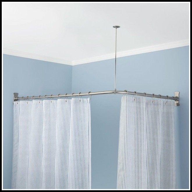 Corner Window Curtain Rods Home Depot