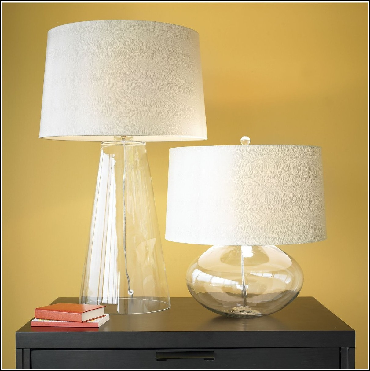 Crate And Barrel Glass Table Lamps