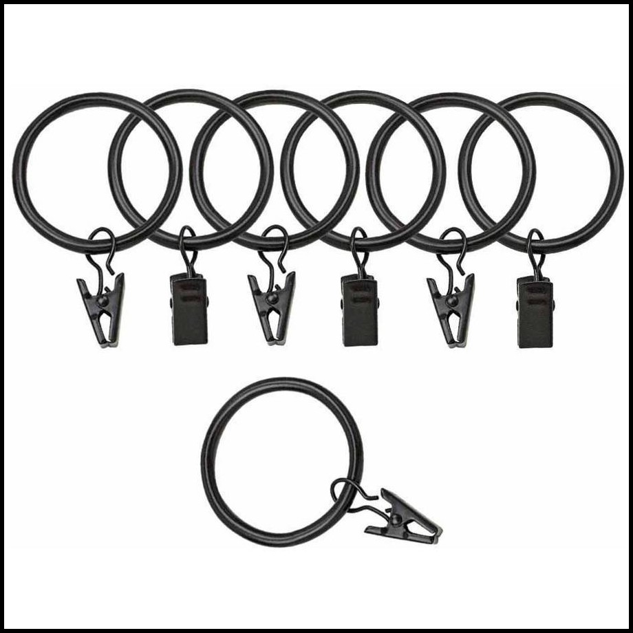 Curtain Rings With Clips Walmart