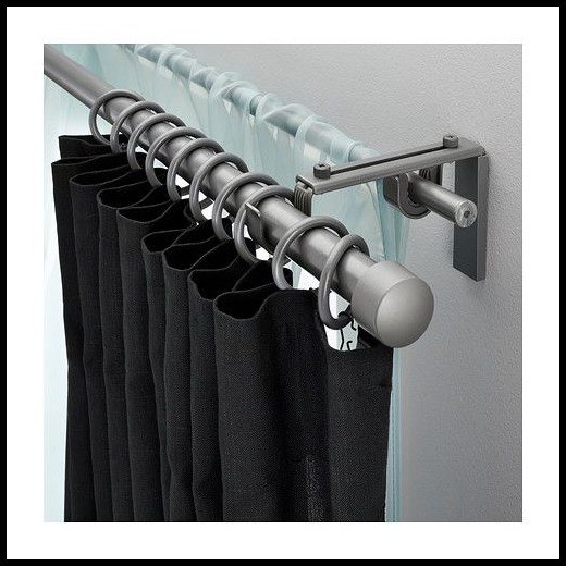 Bay Window Curtain Rods Ikea Curtains Home Decorating
