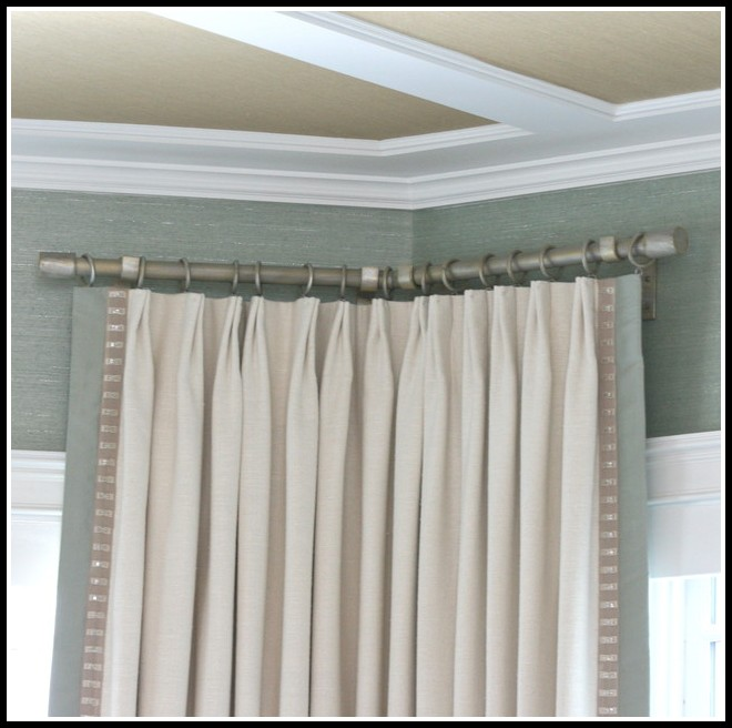 Curved Curtain Rod For Corner