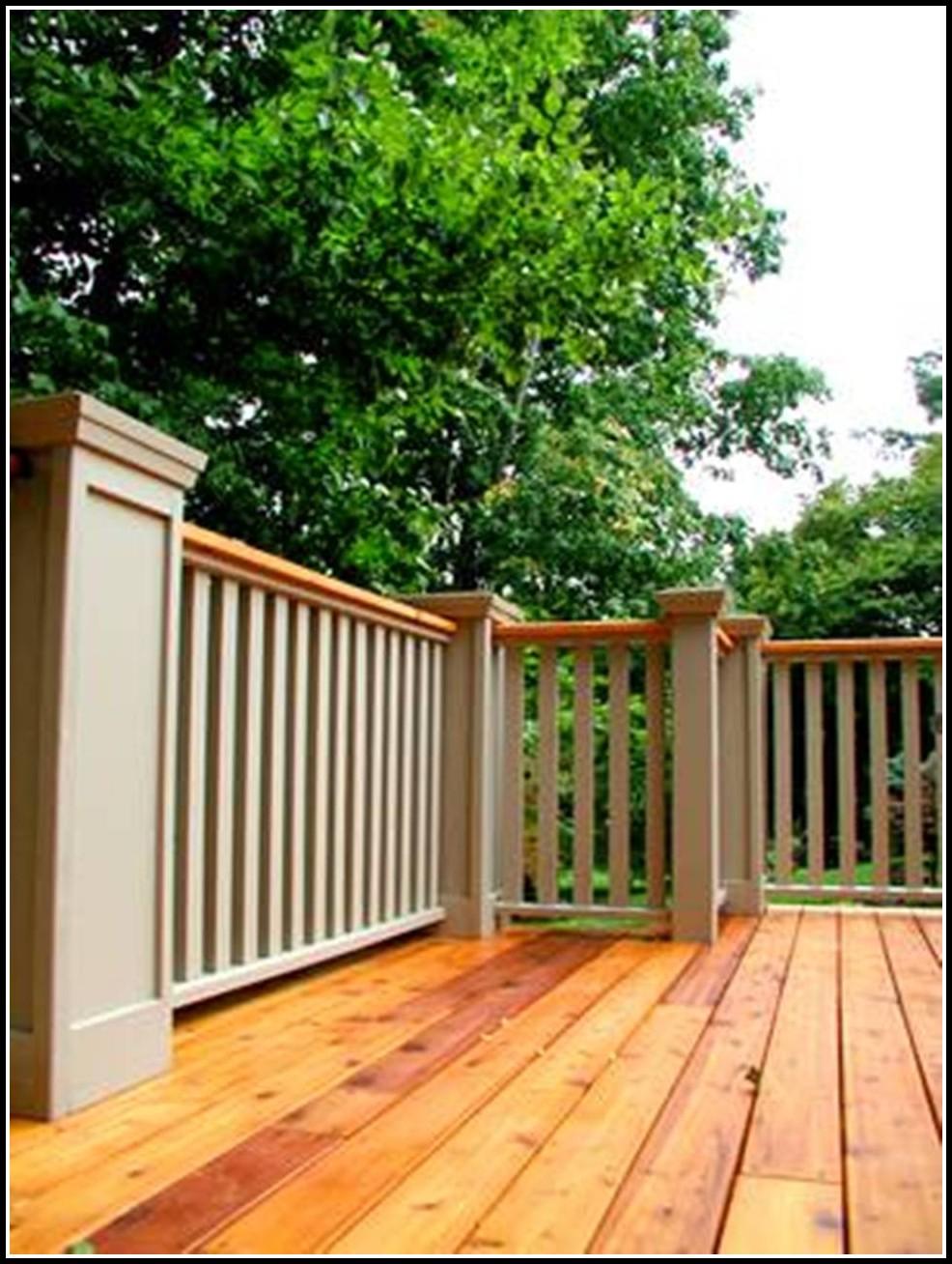 Custom Wood Deck Railings