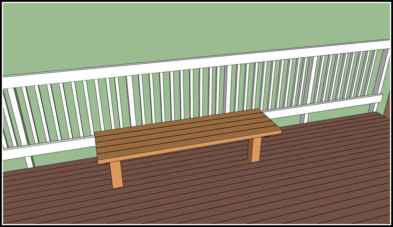 Deck Bench Seating Plans Free