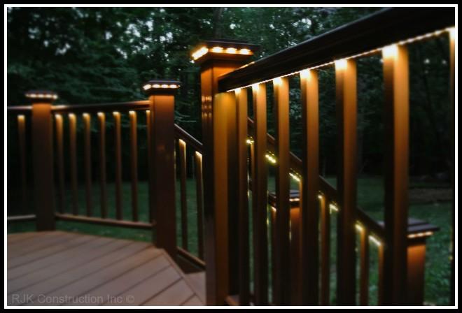 Deck Rail Lighting Ideas