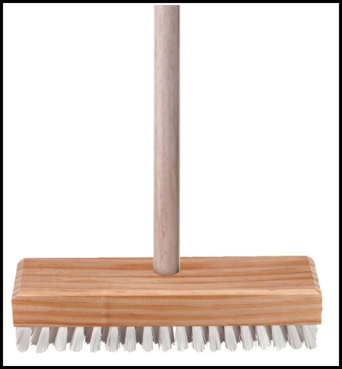 Deck Scrub Brush With Handle