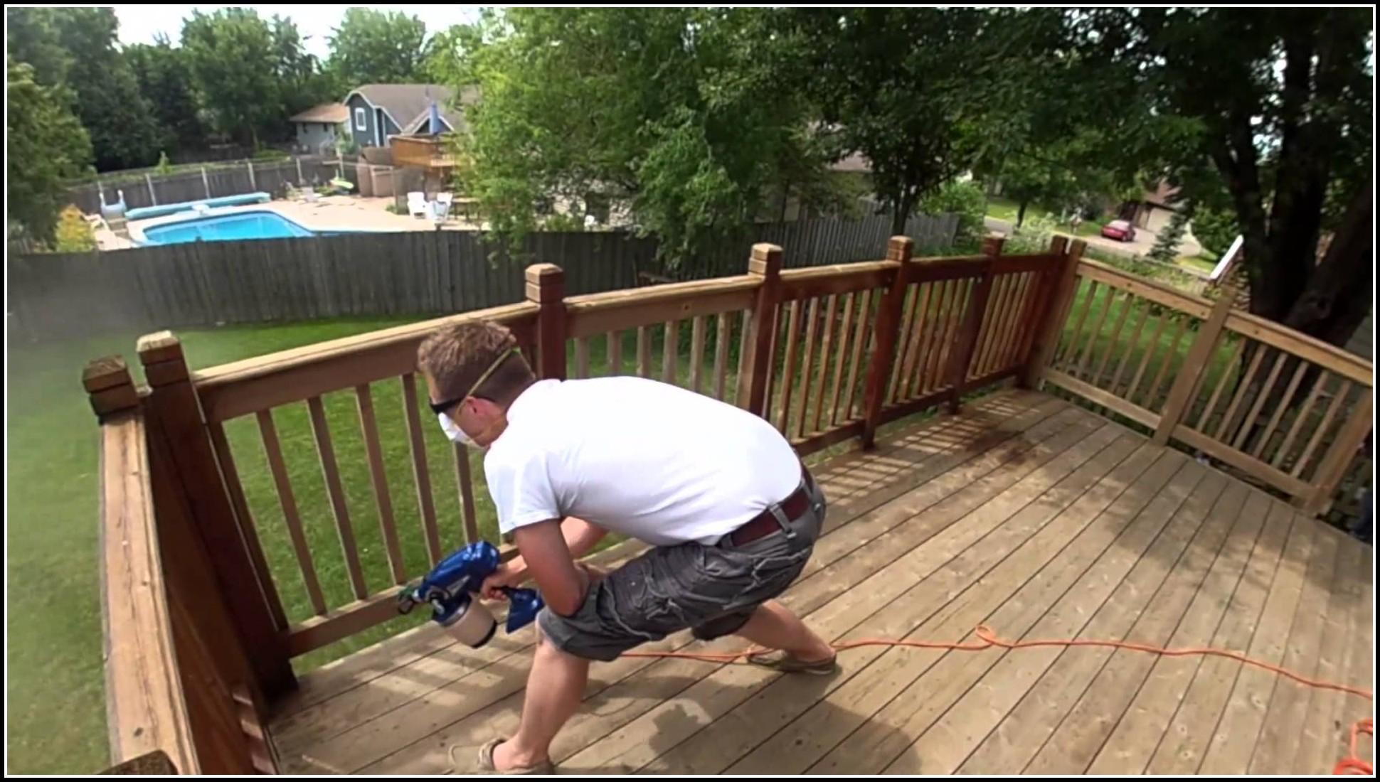 Deck Stain Brush Or Spray
