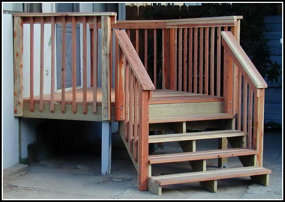 Deck Stair Railing Post Attachment