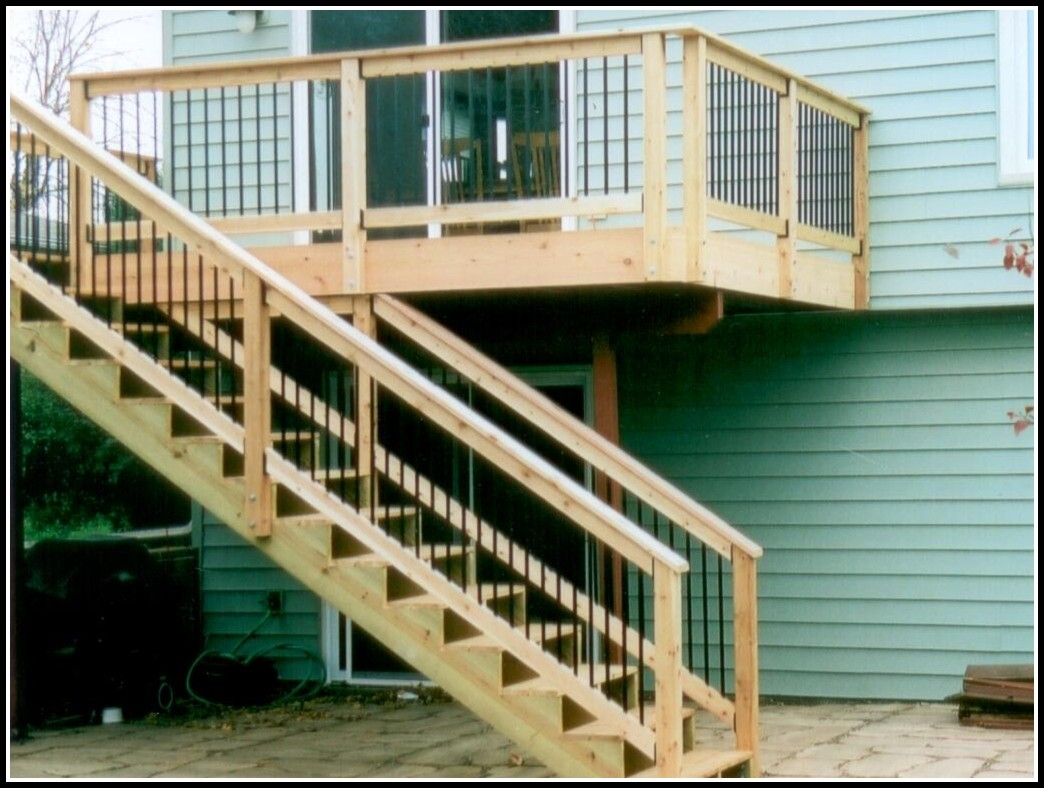 Deck Stairs Railing Posts