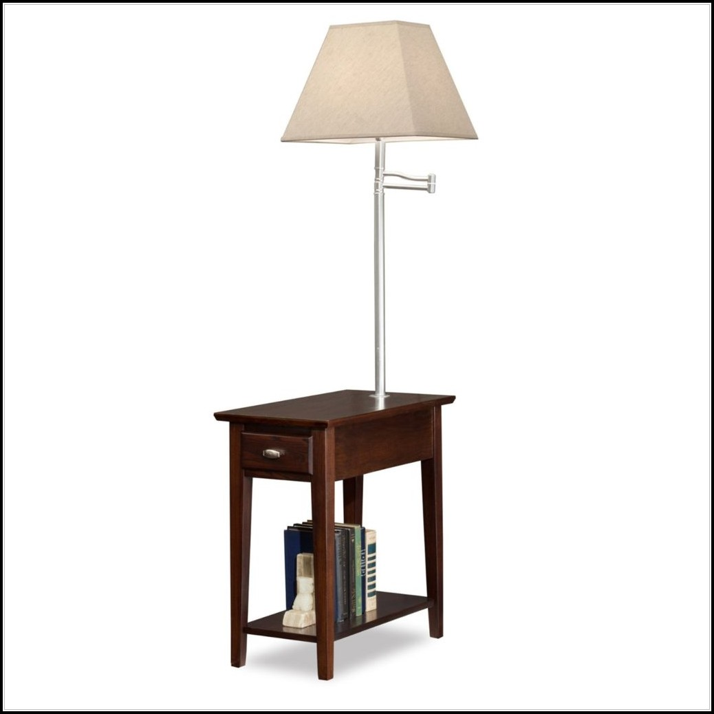 End Table With Light Attached