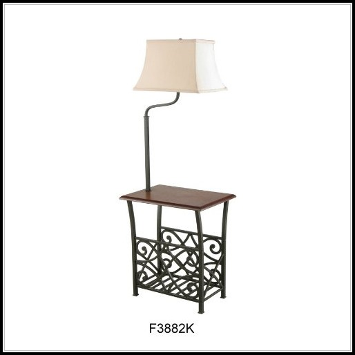 End Tables With Lamps Attached