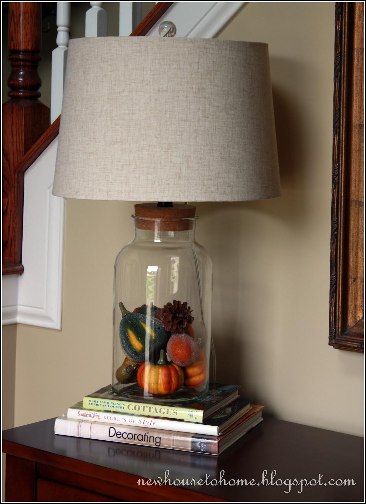 Fillable Glass Block Table Lamp