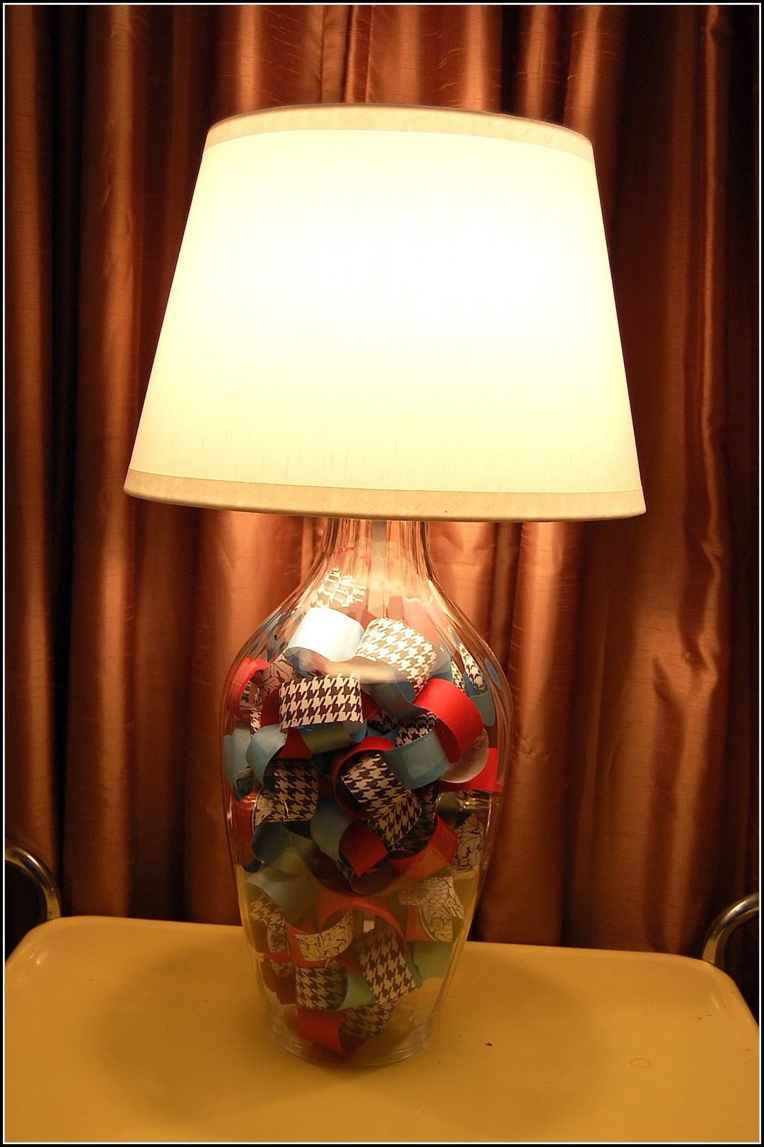 Fillable Glass Table Lamp Ideas