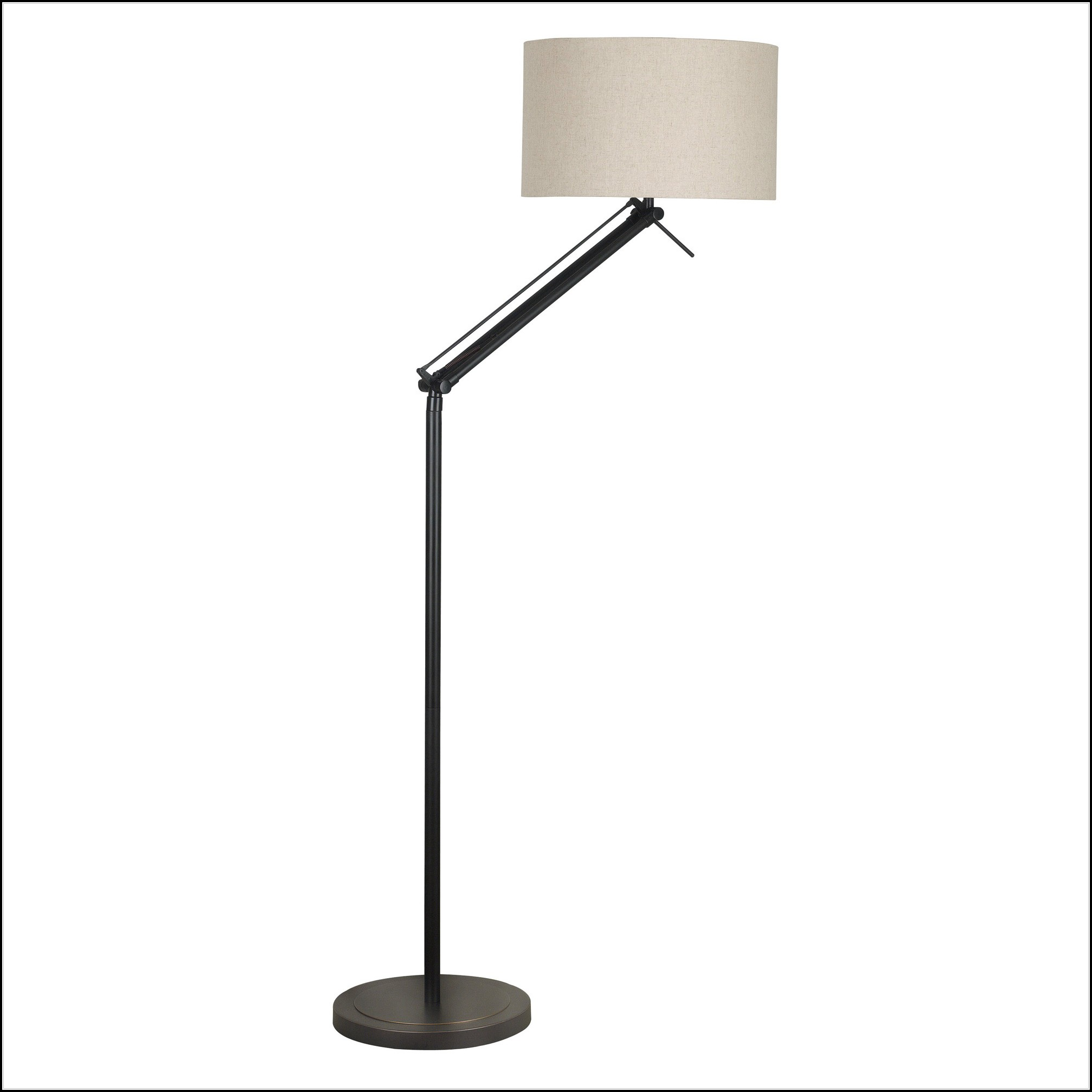 Floor Lamp With Tray Bronze